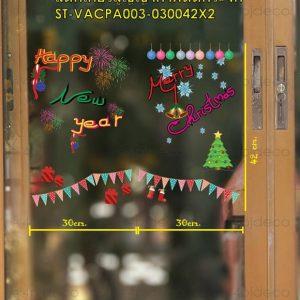 สติ๊กเกอร์ปีใหม่ติดกระจกหน้าร้าน,สติ๊กเกอร์happy new year ติดกระจก,สติ๊กเกอร์ติดกระจกปีใหม่2020,สติ๊กเกอร์ปีใหม่ติดกระจกแบบสูญญากาศ