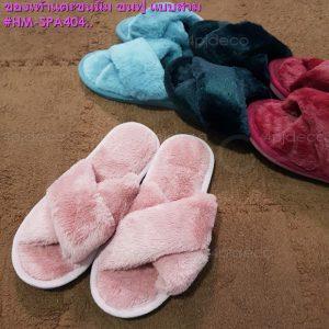 รองเท้าแตะสวมเปิดปลายเท้า,รองเท้าขนฟูพื้นแบบกันลื่น,รองเท้าขนนุ่มสไตล์คุณหนู